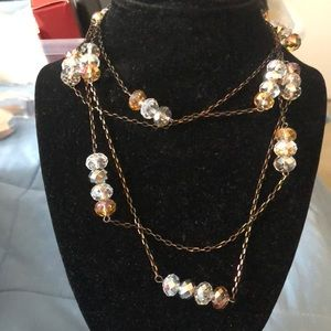 Lovely 72 inch Chain with Crystal Stones